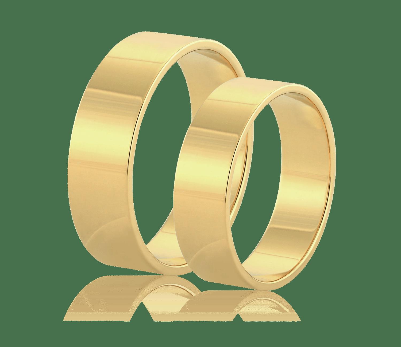 5da719fa140423 Klasyczne obrączki ślubne Z-996-Z-3 - Żółte złoto - AURORIA sklep ...