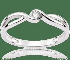 ed9fd738395360 Calm Wind 0,05 ct Pierścionek zaręczynowy z białego złota z diamentem