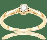 Tanie Złote Pierścionki Zaręczynowe Z Brylantami Do 1000 Zł