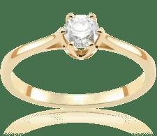 48029094bf1462 Luna Light 0,30 ct - certyfikat GIA Pierścionek zaręczynowy z żółtego złota  z brylantem