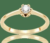 Pierścionki Zaręczynowe Z Brylantami Białe I żółte Złoto Auroria