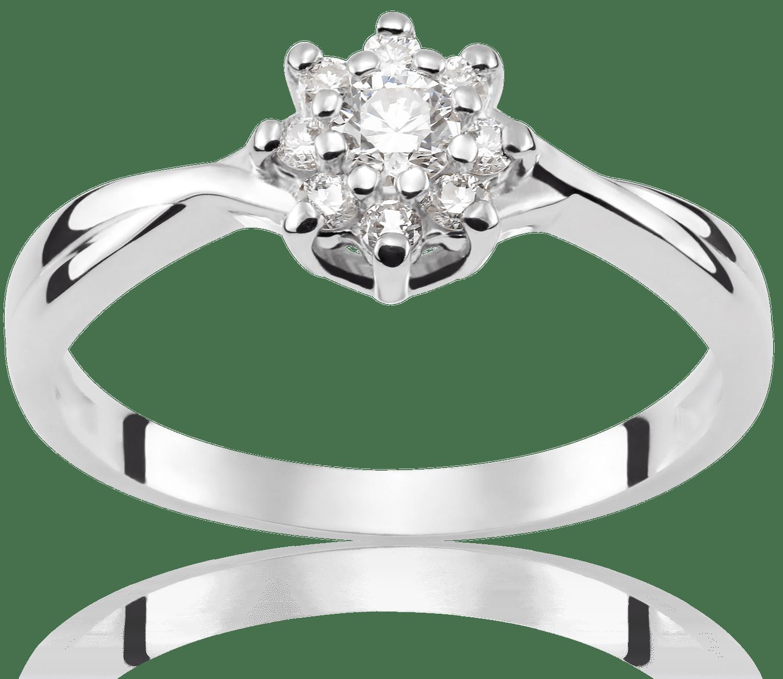 Pierścionek Zaręczynowy Amelie 022 Ct Z Brylantem Białe Złoto