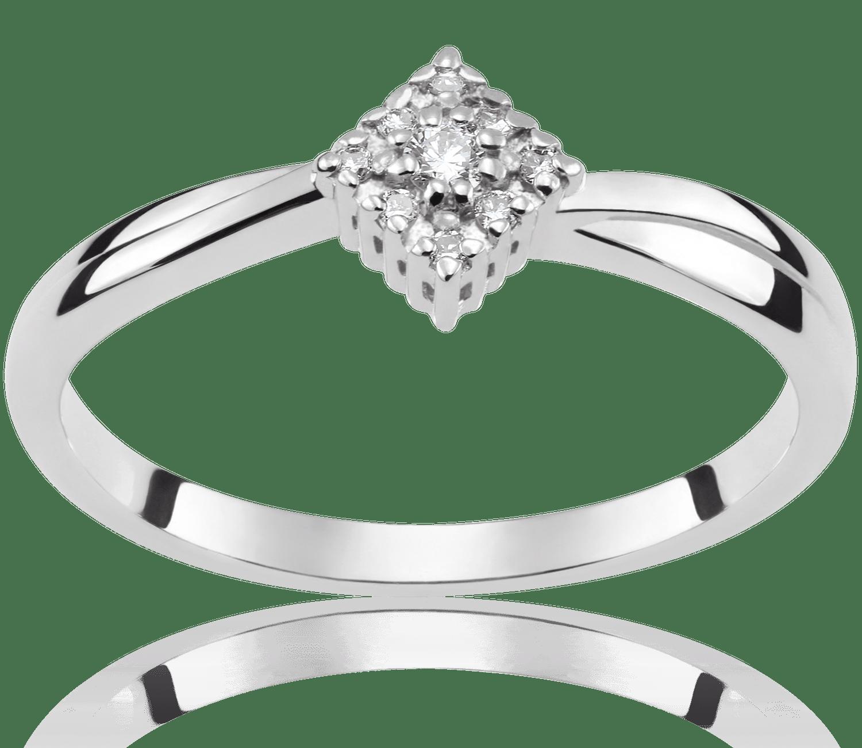 Pierścionek Zaręczynowy Emily 009 Ct Z Brylantem Białe Złoto