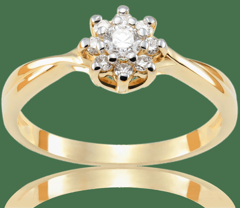 Pierścionek Zaręczynowy Amelie 022 Ct Z Brylantem żółte Złoto