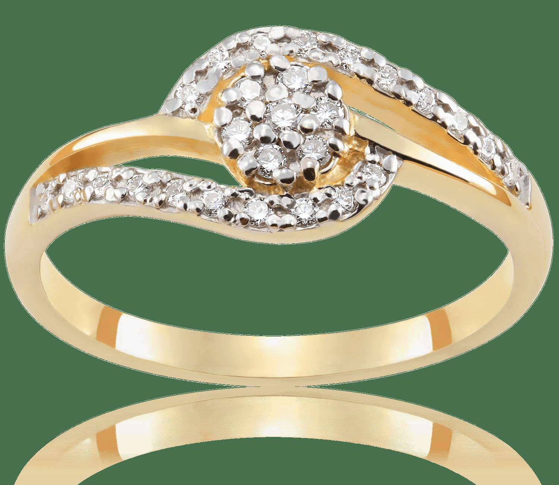 Pierścionek Zaręczynowy Beatrice 017 Ct Z Brylantem żółte Złoto