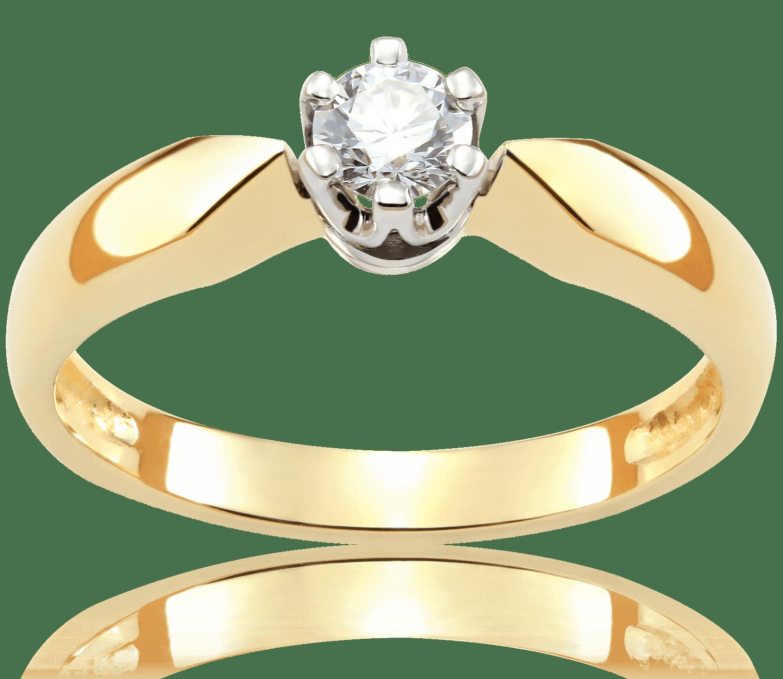 Pierścionek Zaręczynowy Scarlett 022 Ct Z Brylantem Białe I żółte