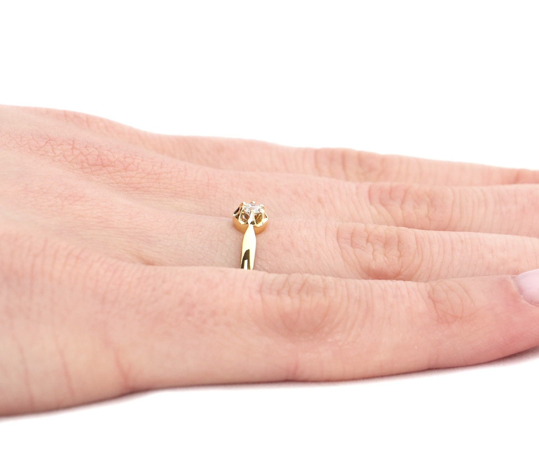 Pierścionek Zaręczynowy Pure Lily 009 Ct Z Brylantem żółte Złoto