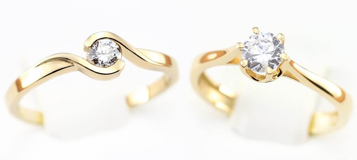 Pierścionki zaręczynowe z diamentami